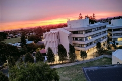 View from the visitors' office, University of Waikato.
